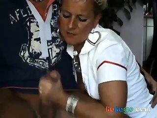 Full-grown MILF nurse fucking