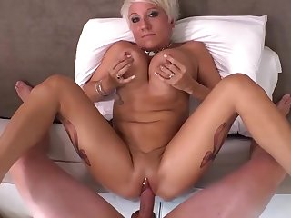 mature anal hardcore scene with short haired GILF