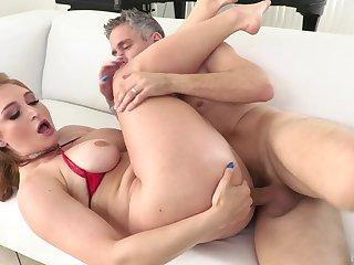 Sloppy cocksucking leads nigh to a vigorous ass fucking