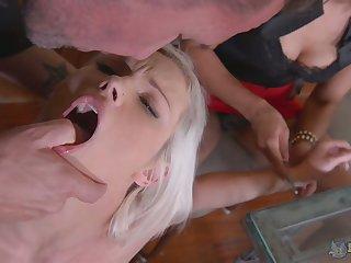 Perverted bitch Zazie Skymm is actually pocket watch hardcore FFM