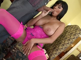 Attractive French Anissa Kate gets a cock in a catch ass