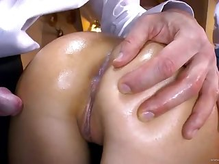 Winsome experienced woman performing in anal fucking