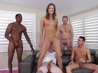 Asian's fabulous gang-bang