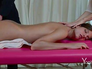 Licentious massage on webcam
