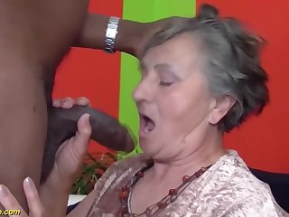 80 years aged grandmother very first multiracial