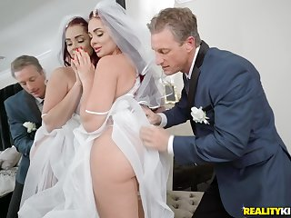 Bride down be Skyla Novea gets a rough fuck before the wedding