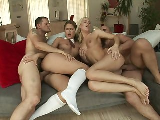 Teenage anal foursome with a team be beneficial to two be beneficial to young sluts