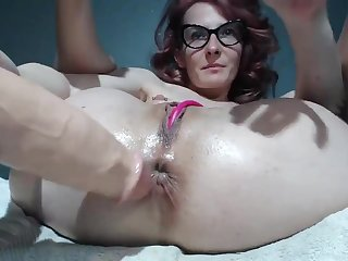 Huge Dildo Rammed Down My Tight Backside Chink
