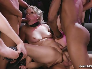 Interracial gangbang sodomized bdsm shagging