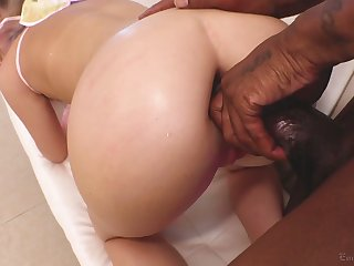 Reprobate white whore with huge hot goods Vienna Rose deserves anal fuck
