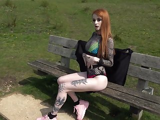 Red-hot haired tattooed hooker Azura Alii gets her anus rammed and stretched