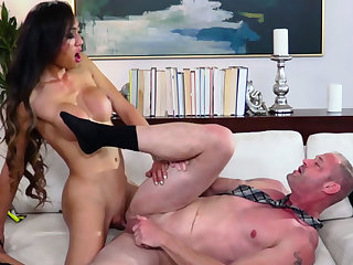 Big boobed asian TS got laid say no to lovers booty unfamiliar behind