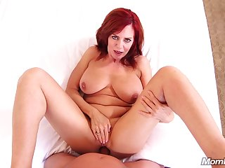 Horny heavy cougar Andi - hardcore POV sex mistiness