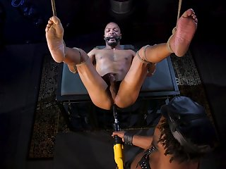 Black gay lovers, insane anal BDSM