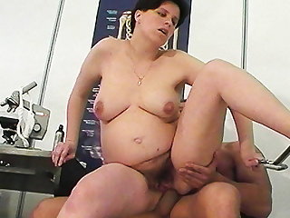 preggo milf anal fucked by their way doctor