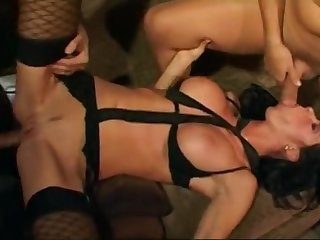 Subfuscous busty bitch got both holes railed