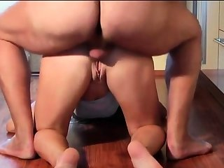 Blonde girl blows, fucks and gets anal
