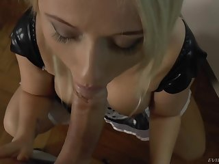 Big ass housekeeper pleases her man like gear-tooth in another situation before
