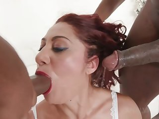 Dana Santo - Sexy Milf Dana Double Penetrated At the end of one's tether Two Black Stallions