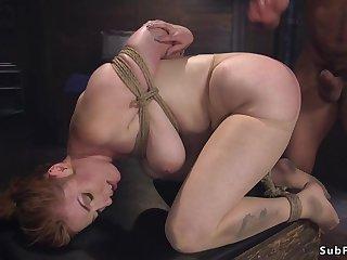 Patient anal hardcore fucks bind oneself in bondage