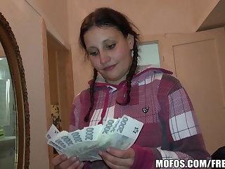 Pretty Czech pupil trades sex be proper of cash