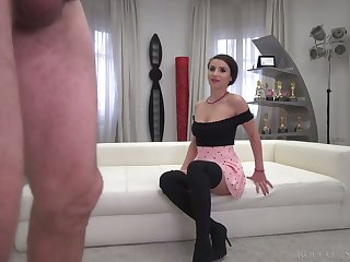 Romanian whore Nelly Kent is get-at-able to work superior to before Rocco's strong cock