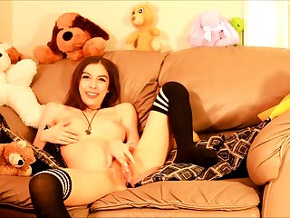 Cute teen solo instalment stockings sybian orgasm